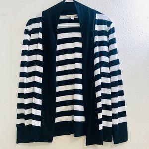 Banana Republic striped cardigan navy & white M